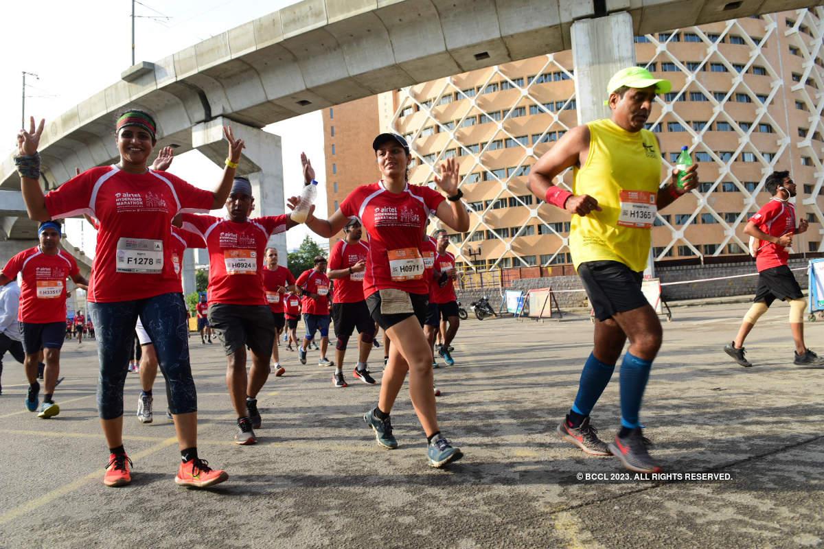 Over 25K participated in Hyderabad Marathon