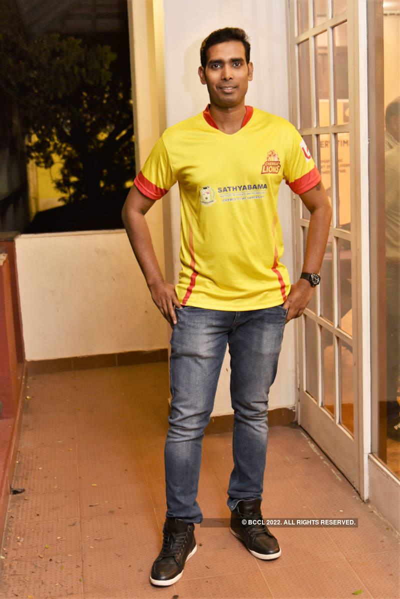 Celebs attend a party to celebrate Chennai Lions team's victory