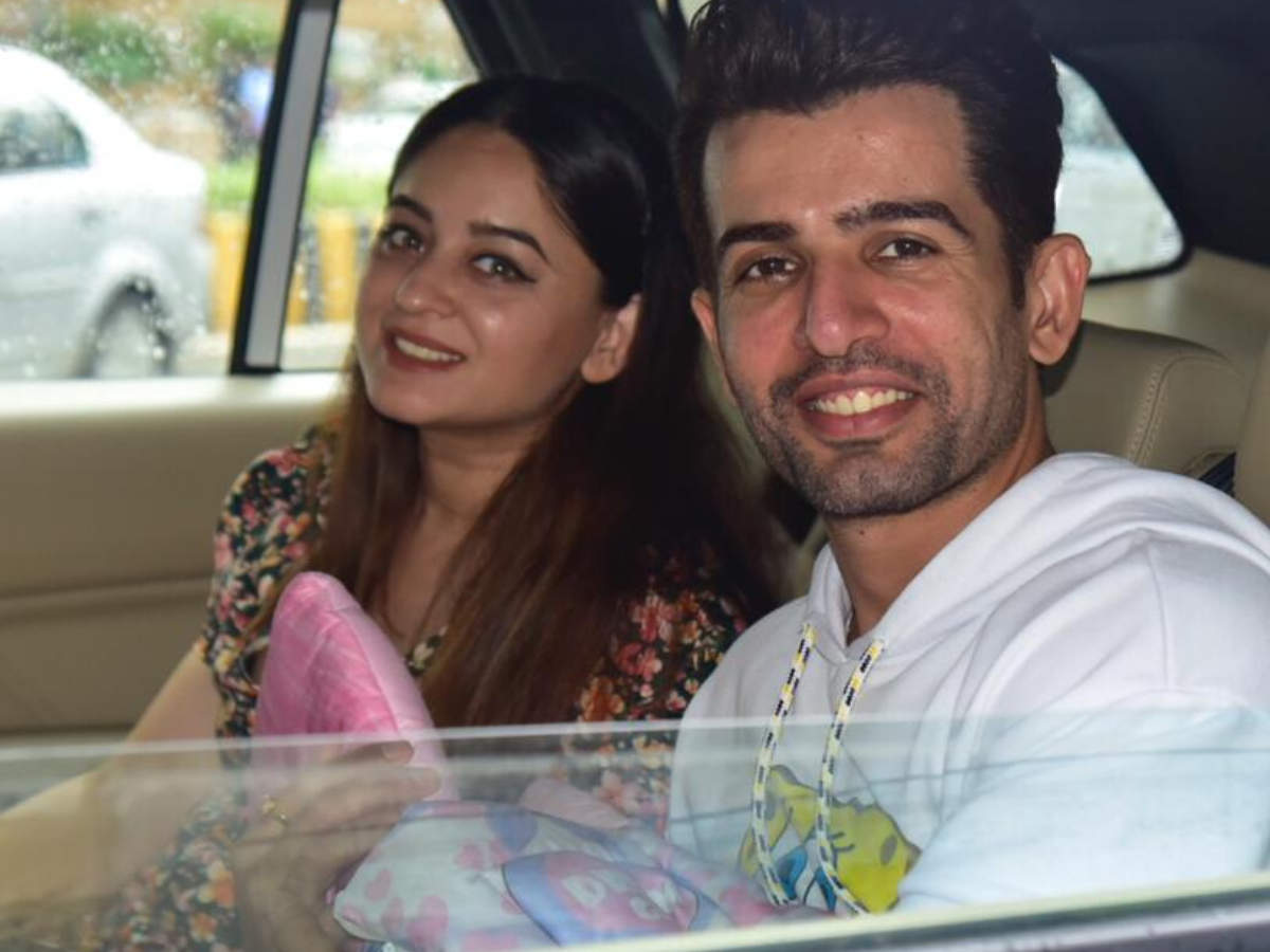 New parents Jay Bhanushali and Mahhi Vij bring home their