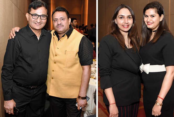 (L) Dinesh Sahgal and Nitin Mishra (R) Fatima Abbas and Ria Tiwari (BCCL/ Farhan Ahmad Siddiqui)