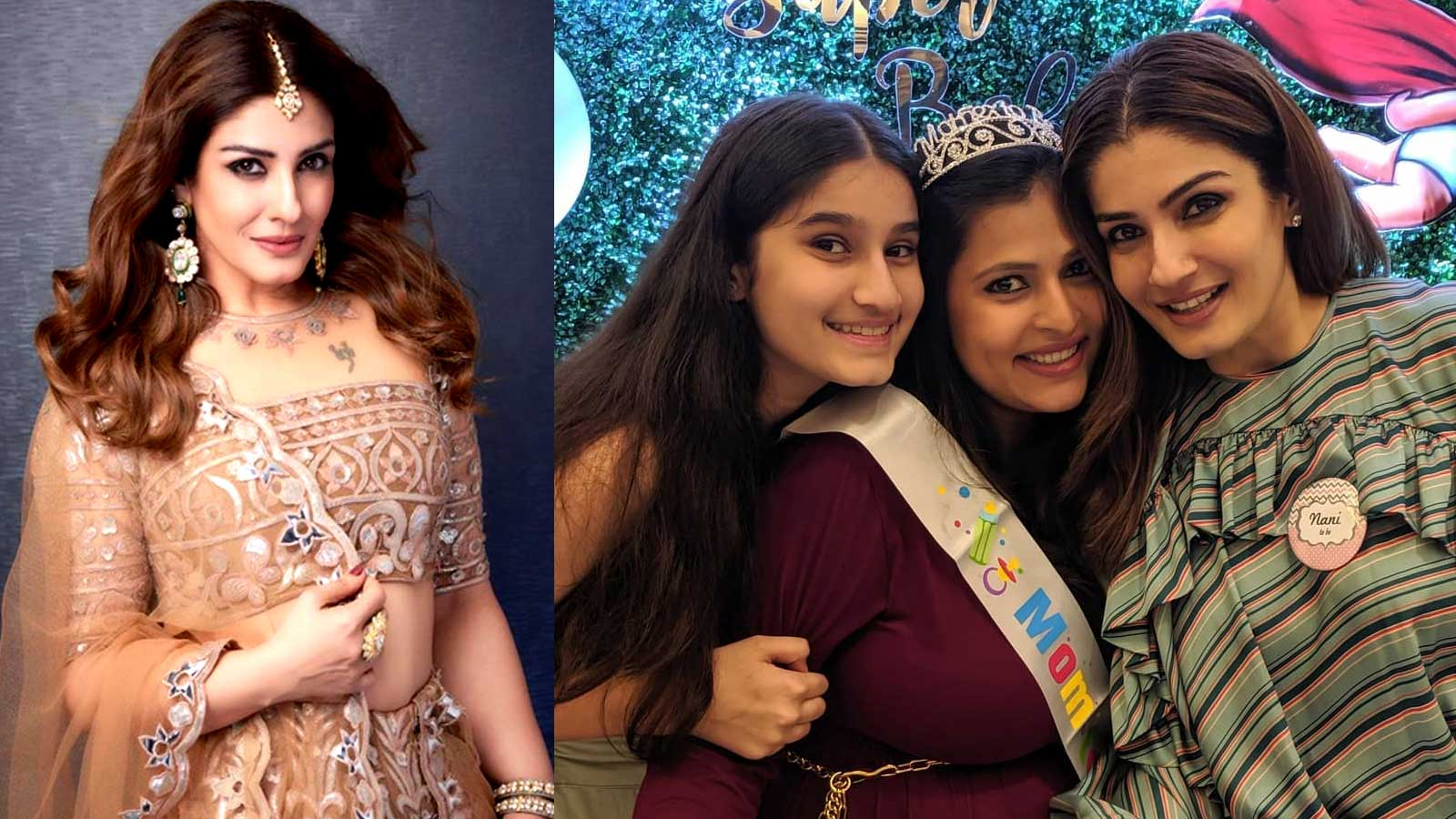 Raveena Tandon to become 'Nani' soon, hosts baby shower for daughter Chhaya