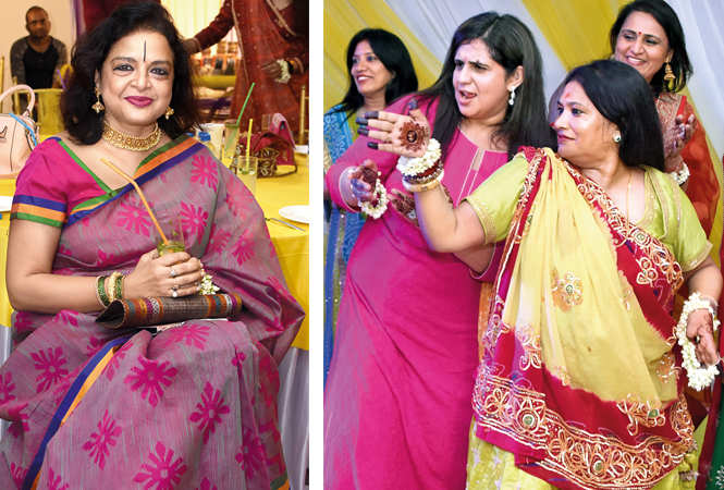 Poonam Atul with Sheena (L) and Rajoo Meena    (BCCL/ Farhan Ahmad Siddiqui)