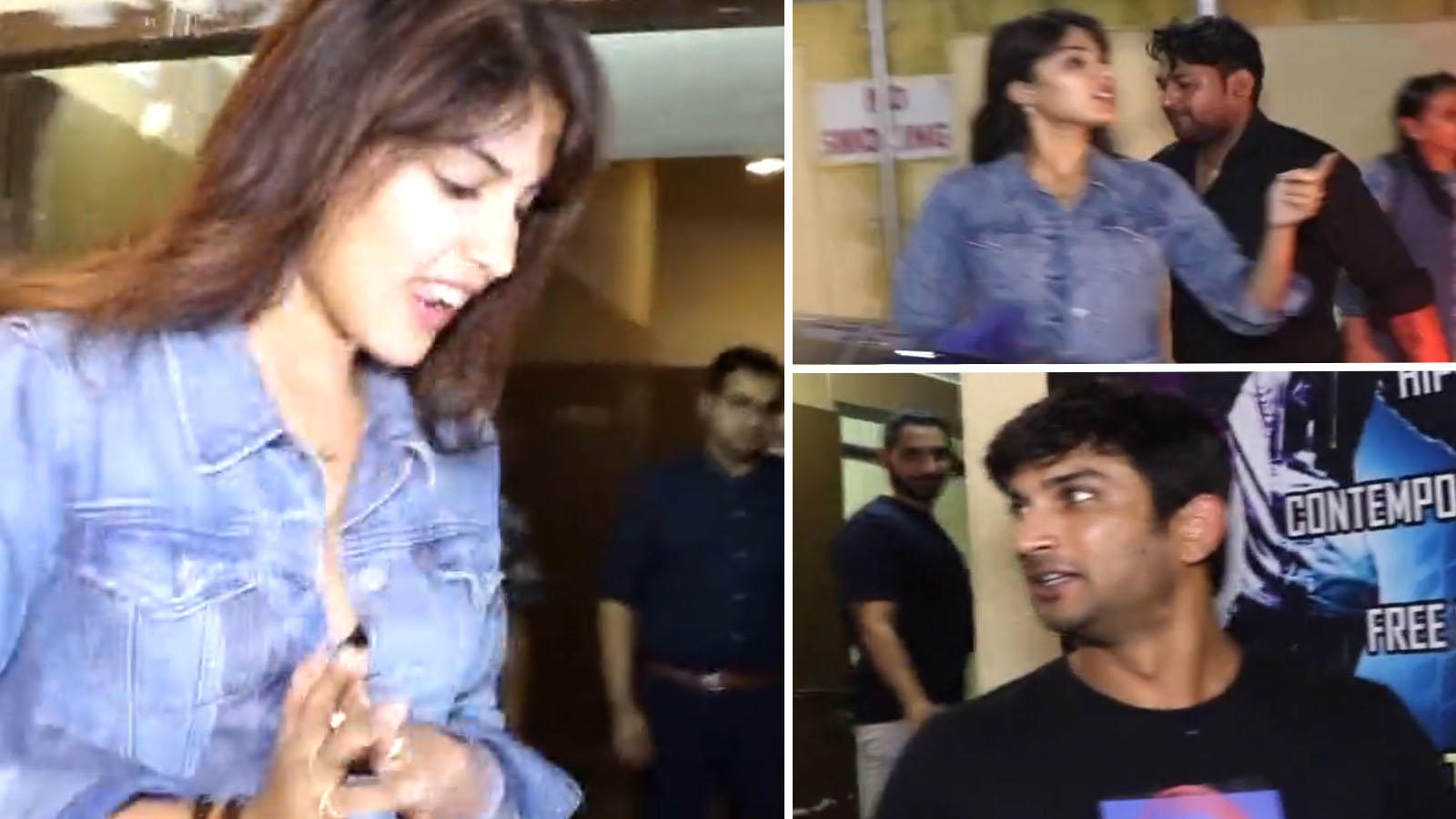 Sushant Singh Rajput and rumoured girlfriend Rhea Chakraborty papped on a movie date