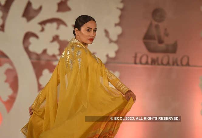 Sonalika Sahay in Anju Modi's outfit