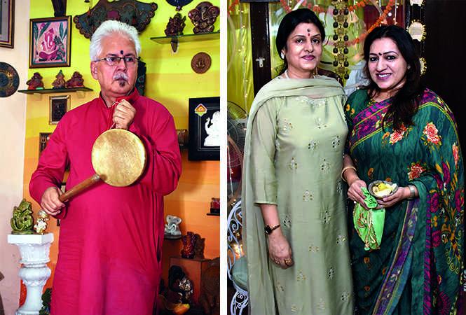 (L) Ashok Roy Choudhury (R) Bela Chanda and Ritu Mathur (BCCL/ Vishnu Jaiswal)