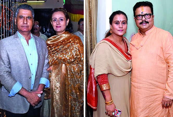 (L) Maj Gen Pravesh Puri and Heminder (R) Priyanka and Abhijit Sarkar (BCCL/ Vishnu Jaiswal)