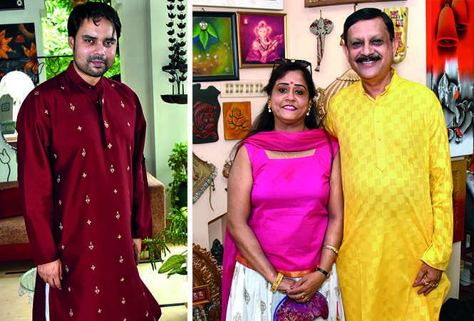 (L) Samrat Neogi (R) Sharmila and Sujit Bose (BCCL/ Vishnu Jaiswal)