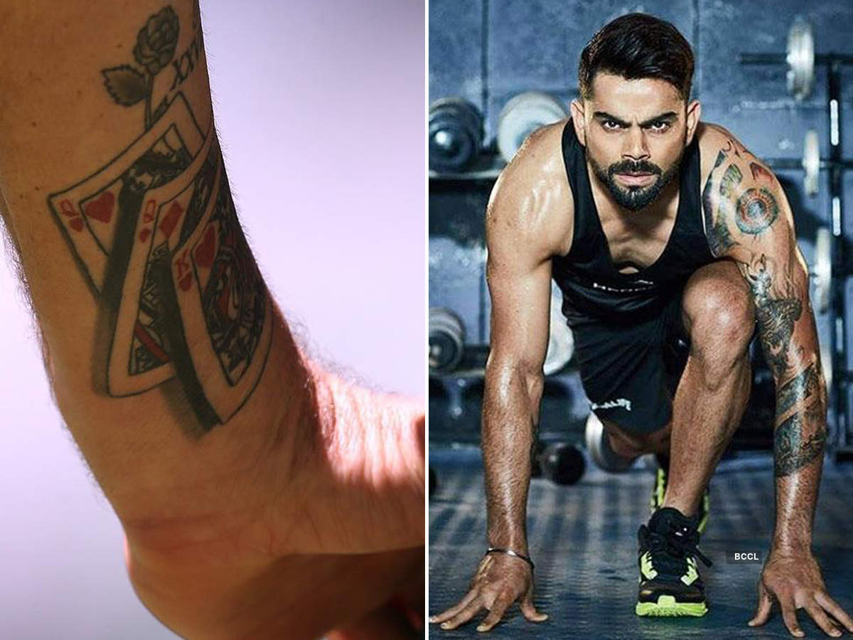 Virat Kohli and other Indian cricketers with eye-catching tattoos