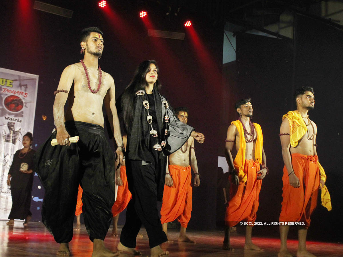 Students perform at Tirpude Premier League 2019