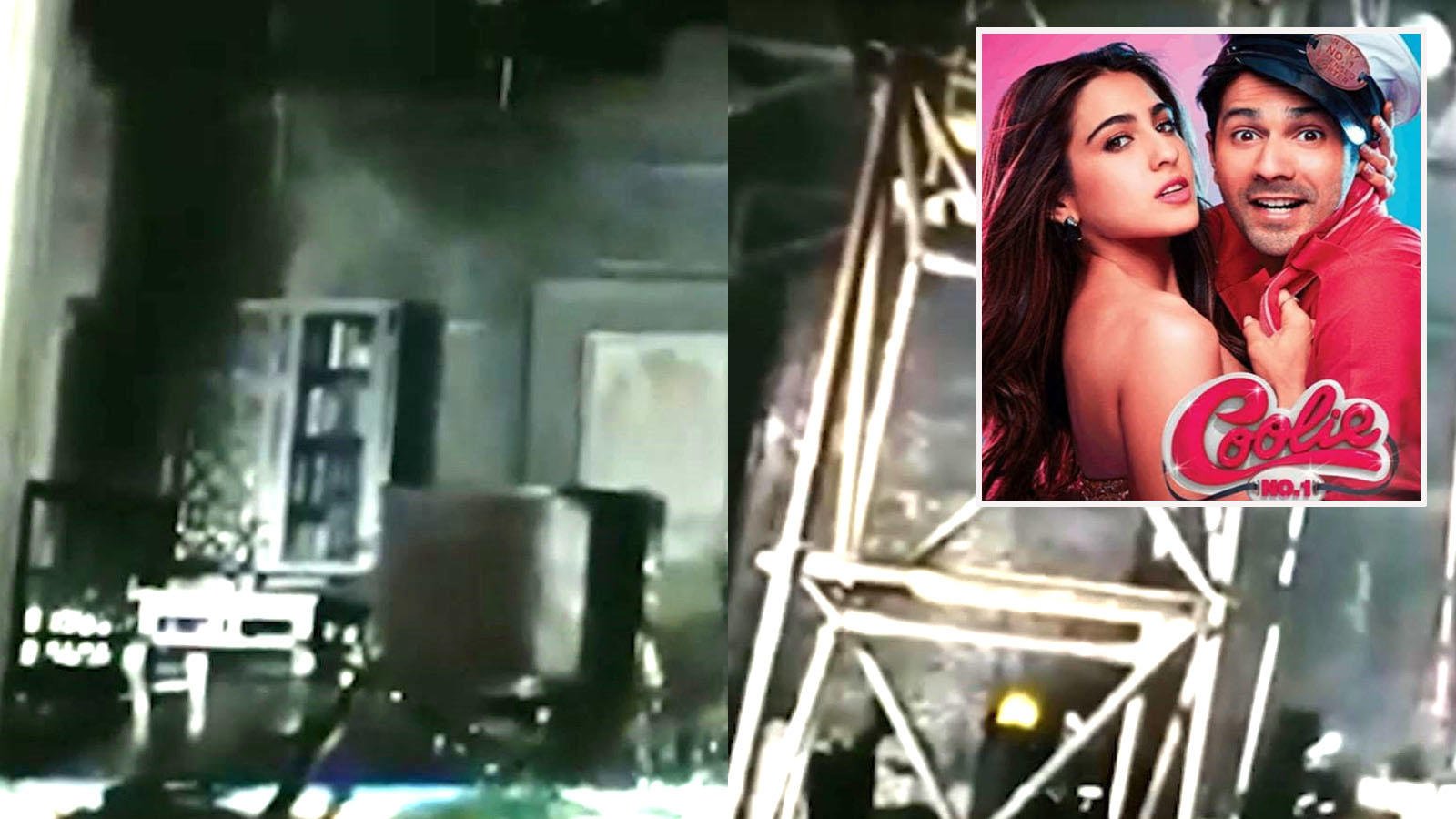 Massive fire breaks out on the sets of Varun Dhawan and Sara Ali Khan starrer 'Coolie No. 1' in Mumbai, no casualty reported