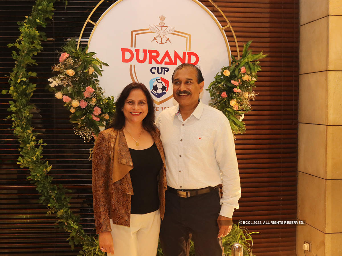 Celebs attend the party to celebrate the success of Durand Cup tournament
