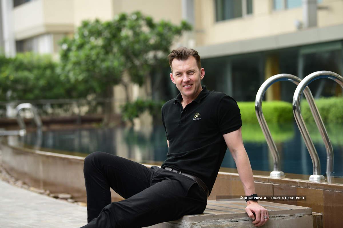 Brett Lee visits Ahmedabad