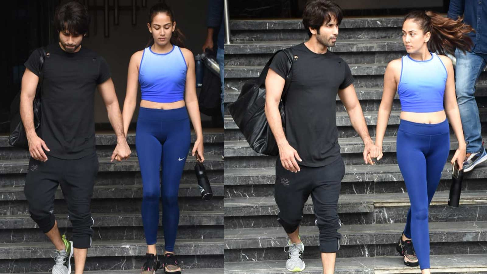 Mira Rajput and Shahid Kapoor walk hand-in-hand as they leave gym together