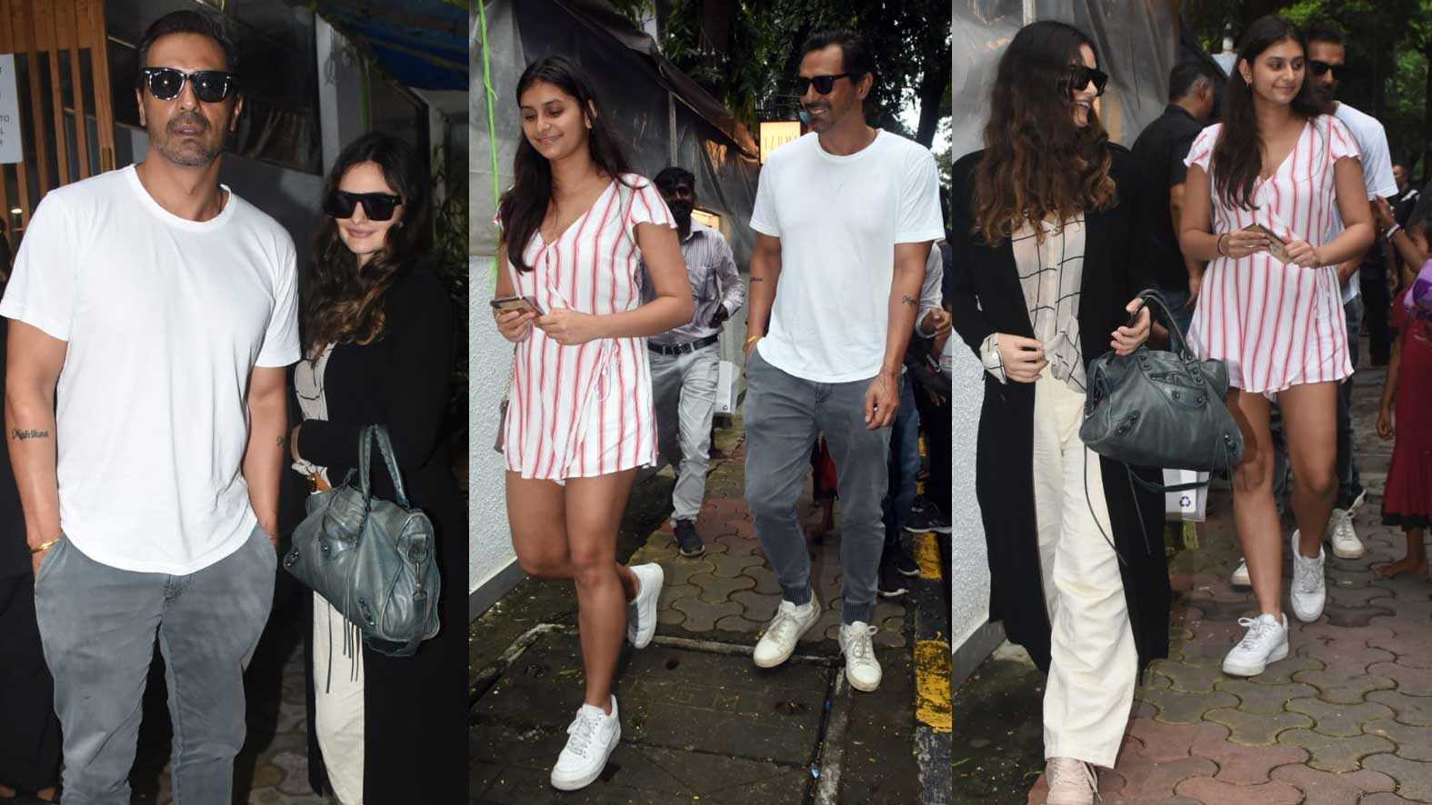 Arjun Rampal enjoys lunch with girlfriend Gabriella Demetriades and daughter Mahikaa Rampal