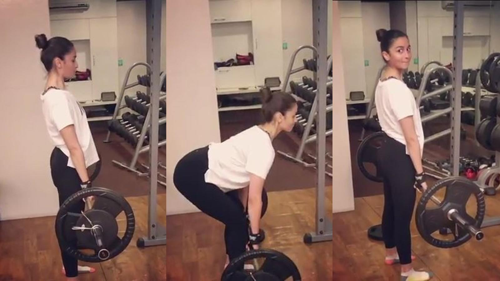 Watch: Alia Bhatt nails 70 kg deadlift, gives major workout inspiration to all