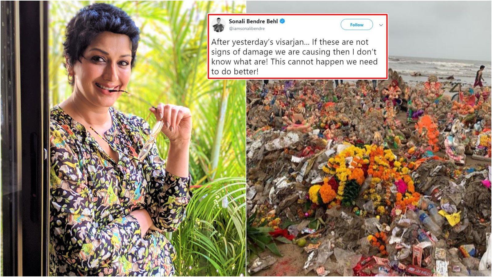 Sonali Bendre shares concerns over pollution post Ganesh Visarjan