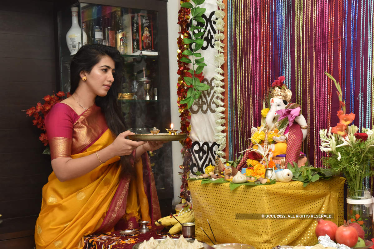 Marathi celebs aren't letting hectic shoots get in the way of Ganpati celebration