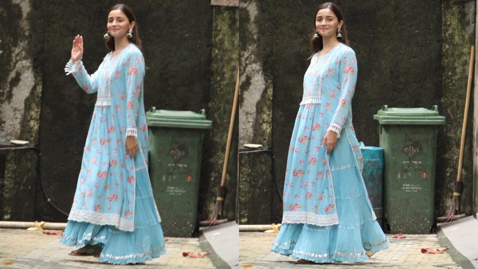 Alia Bhatt's blue ethnic ensemble is a wardrobe must-have