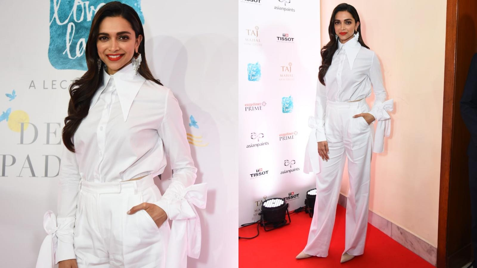 Deepika Padukone looks gorgeous as ever in an all white attire!