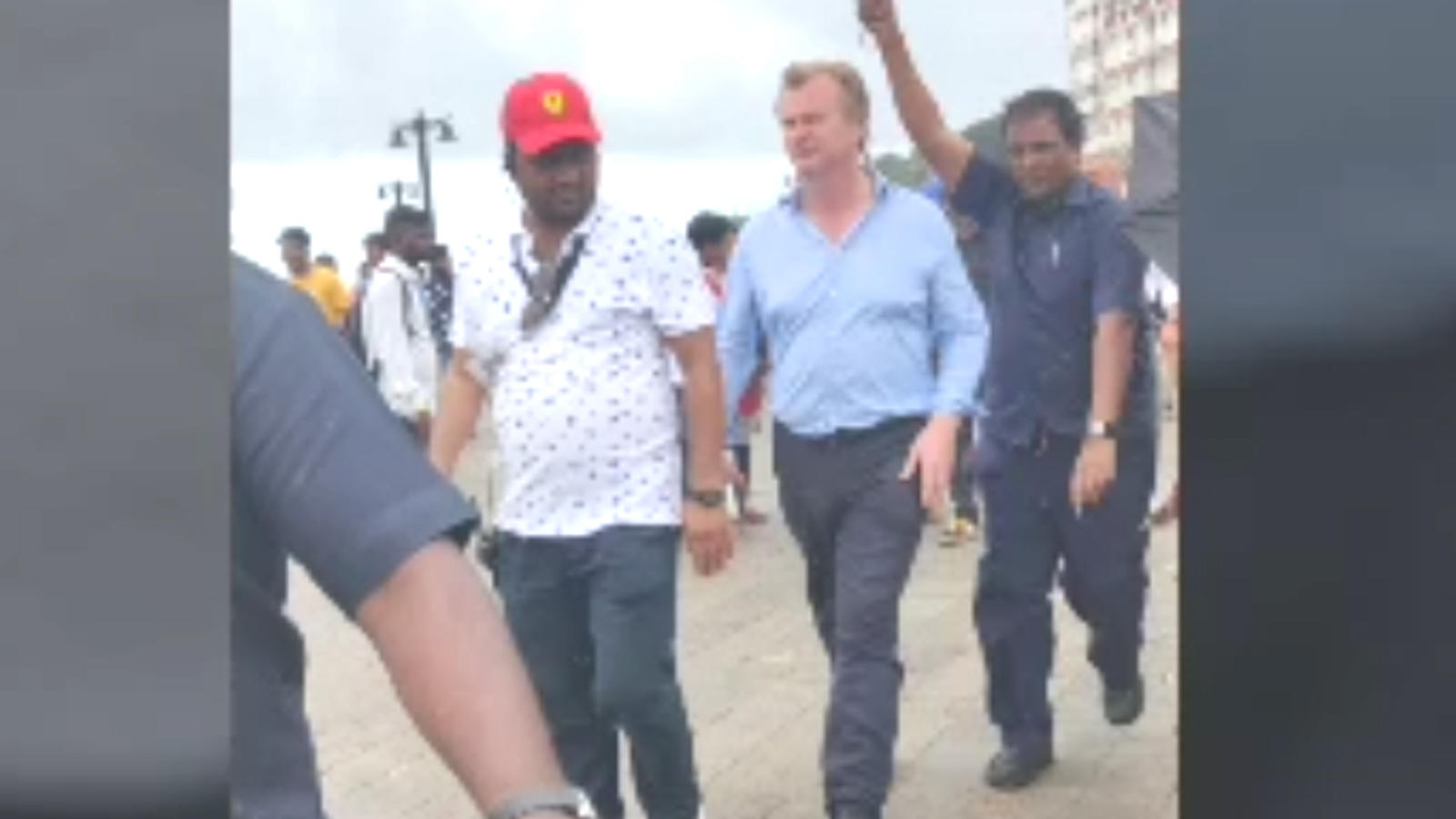 Spotted: Christopher Nolan heads to his film shoot at Gateway of India