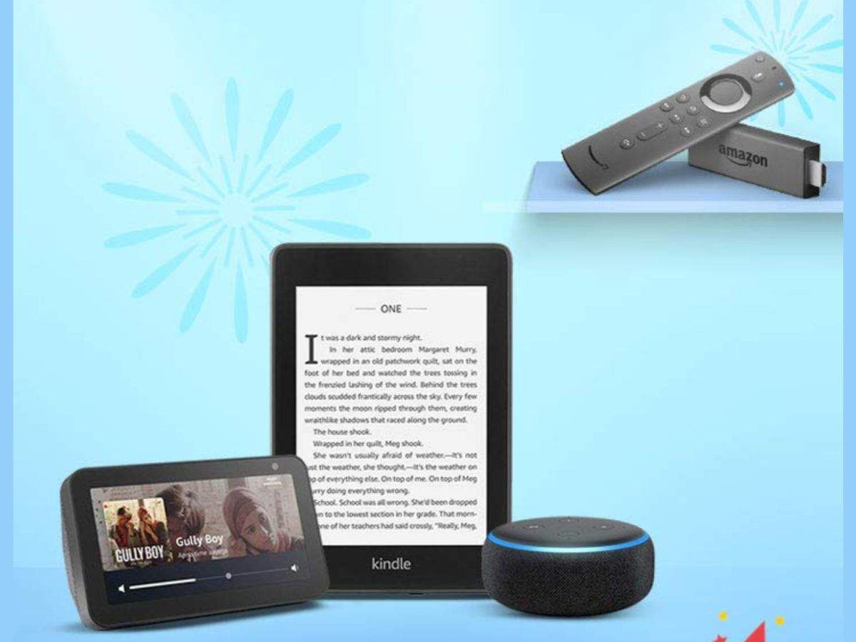 Amazon devices, including Fire TV stick, Echo and Kindle will be available at up to 45% off