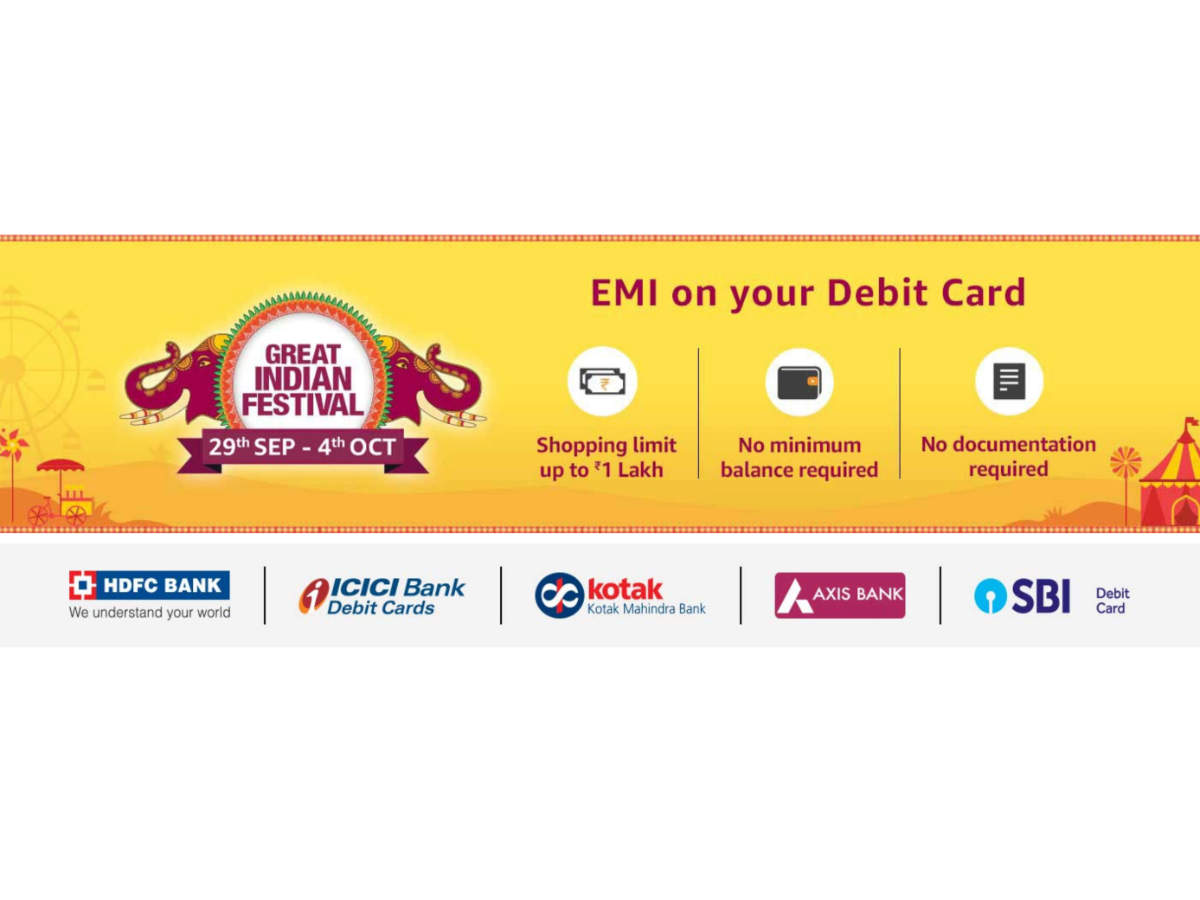 Amazon is also offering no cost EMI on HDFC Bank, ICICI Bank, Kotak Mahindra Bank and SBI debit cards.