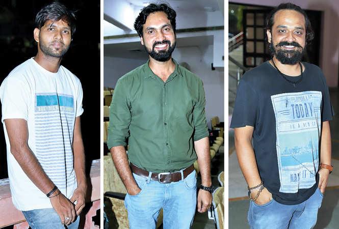 (L) Himanshu Sharma (C) Mohd Saif (R) Nitish (BCCL/ Aditya Yadav)