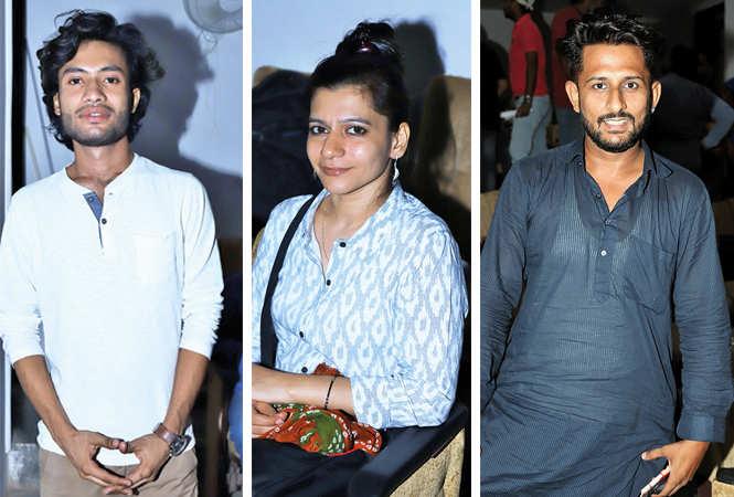 (L) Parth Srivastava (C) Pooja Singh (R) RJ Prateek (BCCL/ Aditya Yadav)