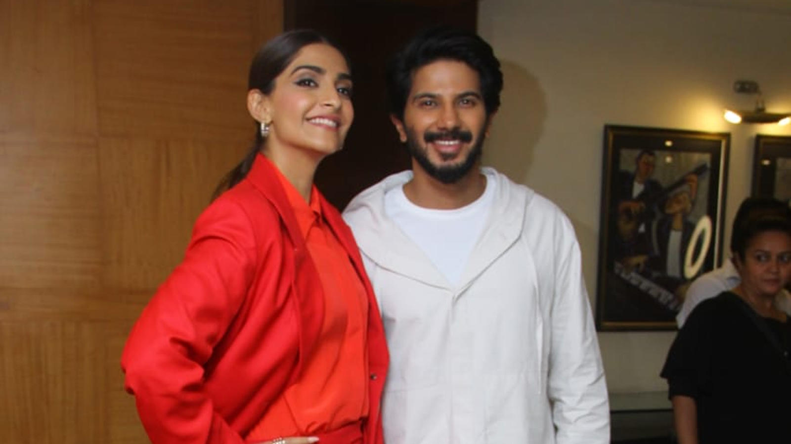 Sonam Kapoor, Dulquer Salmaan spotted in Mumbai for 'The Zoya Factor' promotions