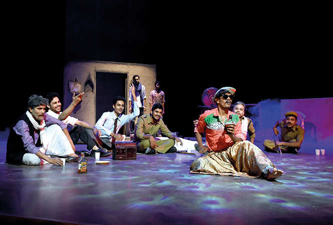 Actors in a scene from the play Prem Sareekha (BCCL/ Farhan Ahmad Siddiqui)
