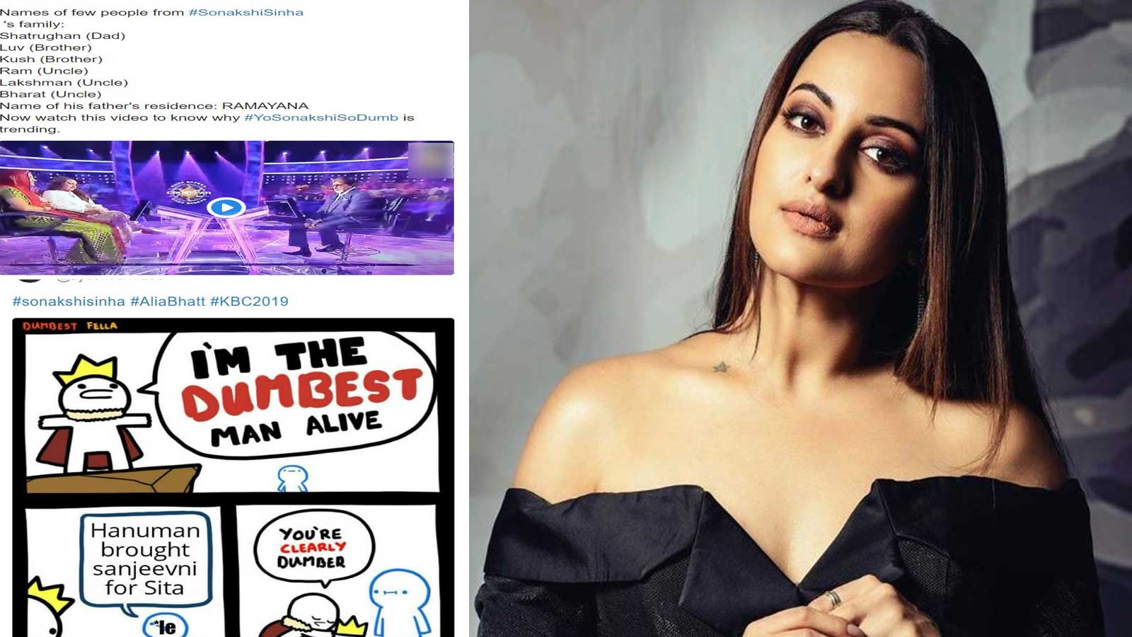 Sonakshi Sinha shuts trolls who targeted her for not answering a Ramayana-related question on KBC 11