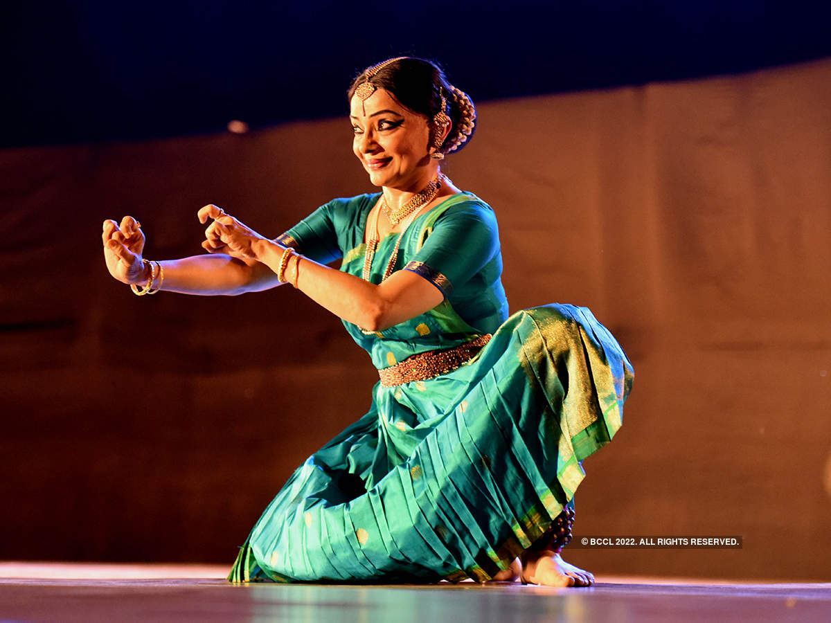 Celebrated dancer Malavika Sarrukai performs at an event