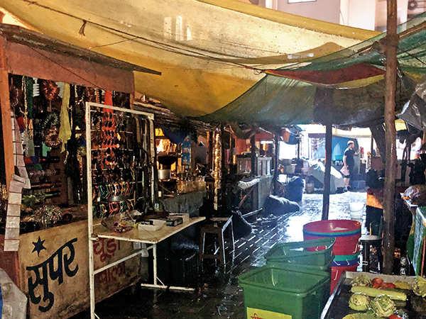 Market created for the shoot at Breach Candy (Photos: Renuka Vyavahare)