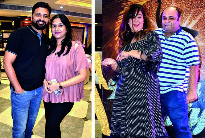 (L) Abhishek and Pallavi Jain (R) Chandani and Chetan Arora (BCCL/ IB Singh)