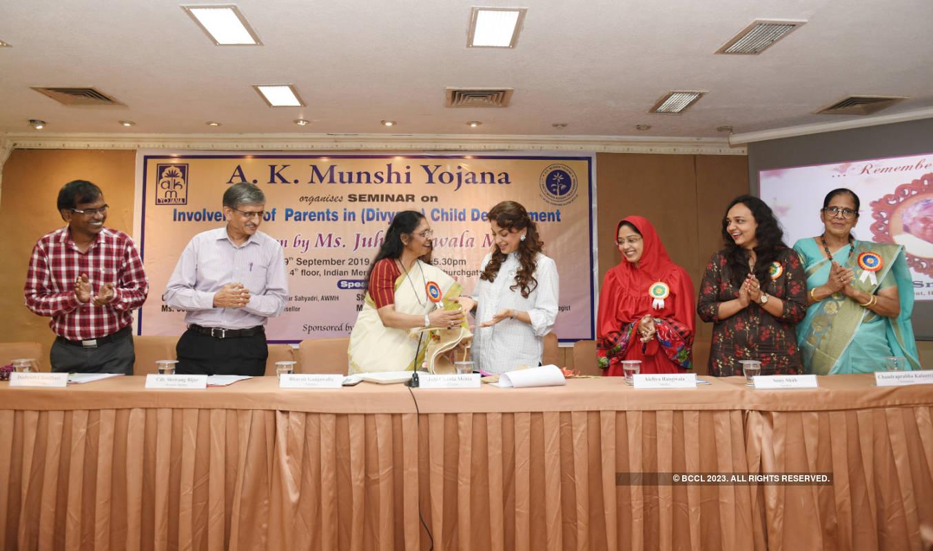 Juhi Chawla attends a child development program