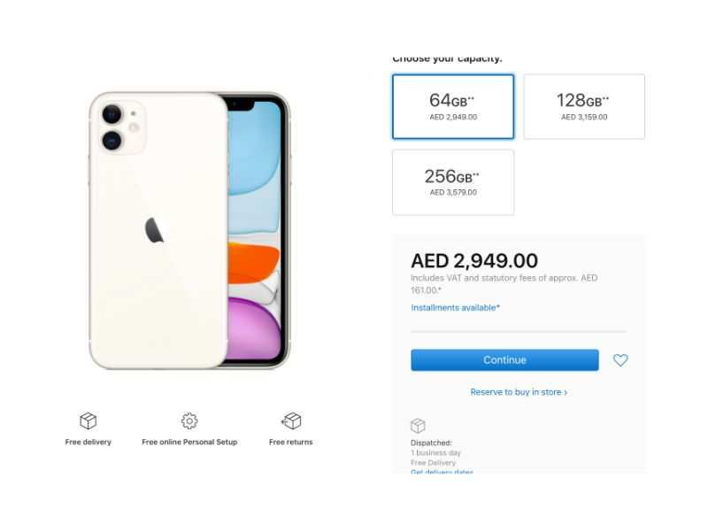 Apple iPhone 11 price in Dubai and UAE starts at Rs 57,100 ...