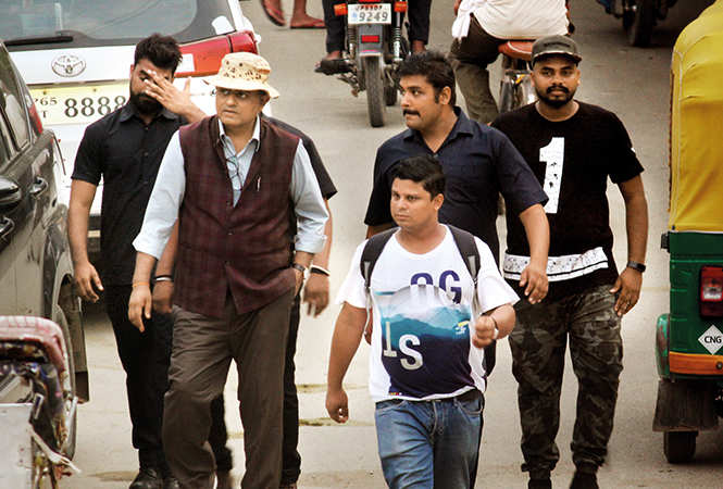 Gajraj Rao, whos is also a part of the film, at Sarnath (BCCL/ Arvind Kumar)