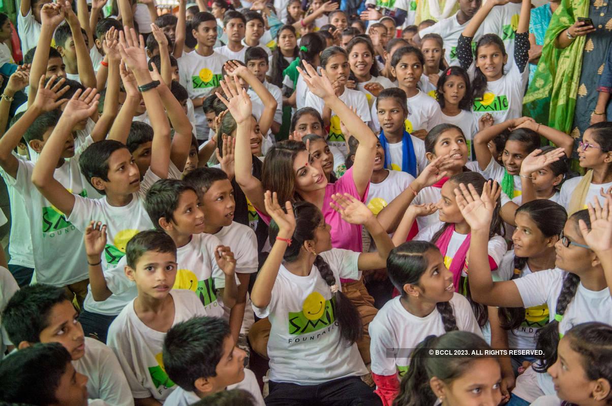 Mouni Roy celebrates pre-birthday with NGO kids