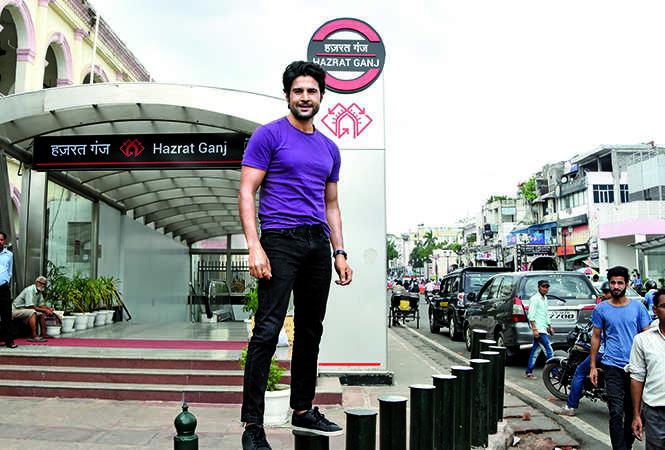 Rajeev Khandelwal at the Hazratganj Metro Station in Lucknow (BCCL/ Farhan Ahmad Siddiqui)