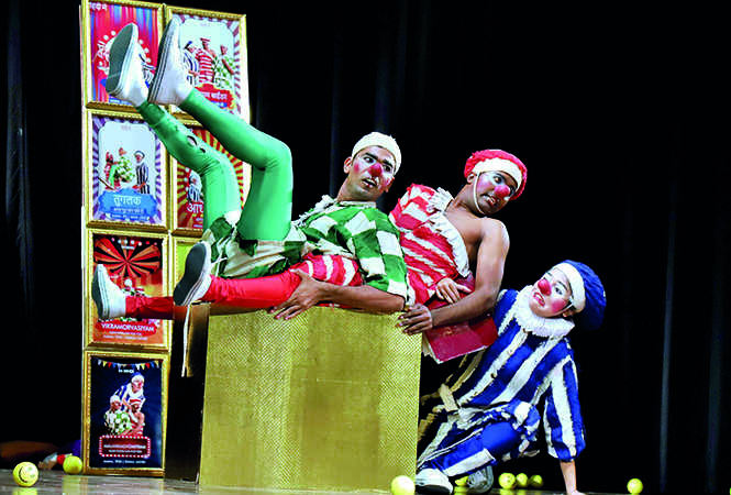 A scene  from the play Shakuntalam which had clowns as the main characters (BCCL)
