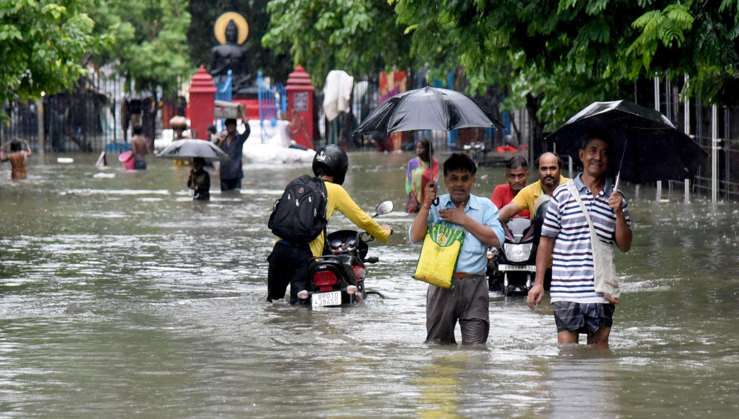 Patna floods: Bihar on red alert after heavy rains | Patna