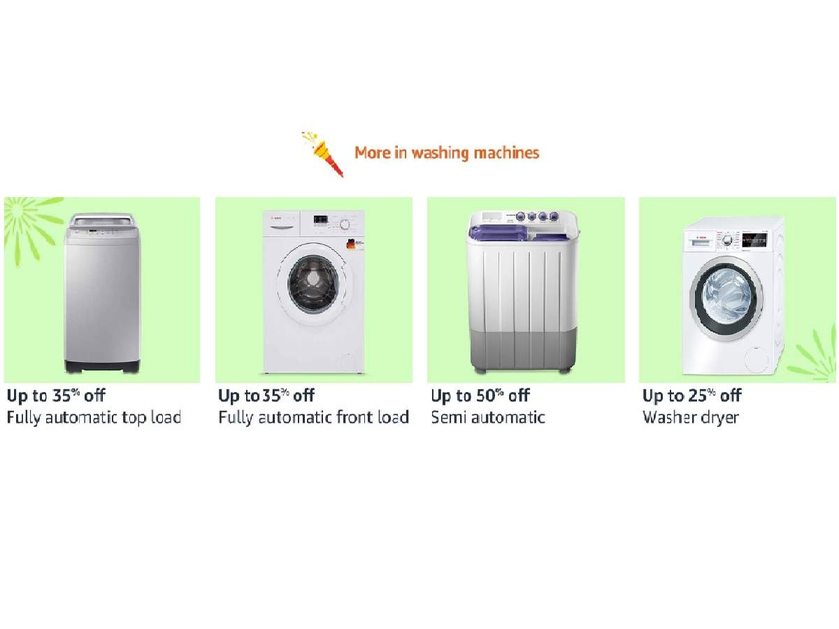 Amazon Sale: Up to 60% off on washing machines by LG, Bosch & more