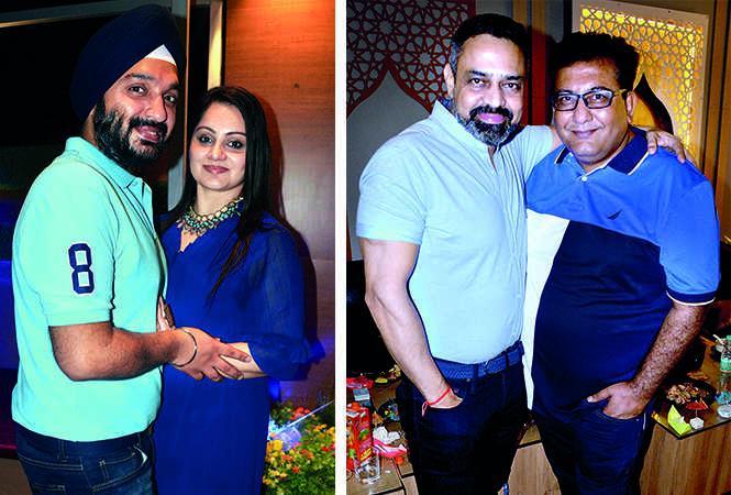 (L) Jaspreet Singh and Nimrat Bhatia (R) Kaushal Seth and Dharmendra Advani (BCCL/ AS Rathor)