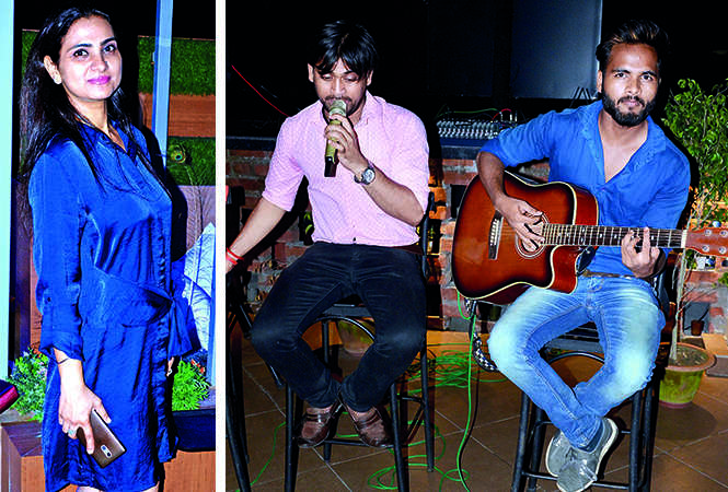(L) Jyoti Pachnanda (R) A live band performance at the do (BCCL/ AS Rathor)