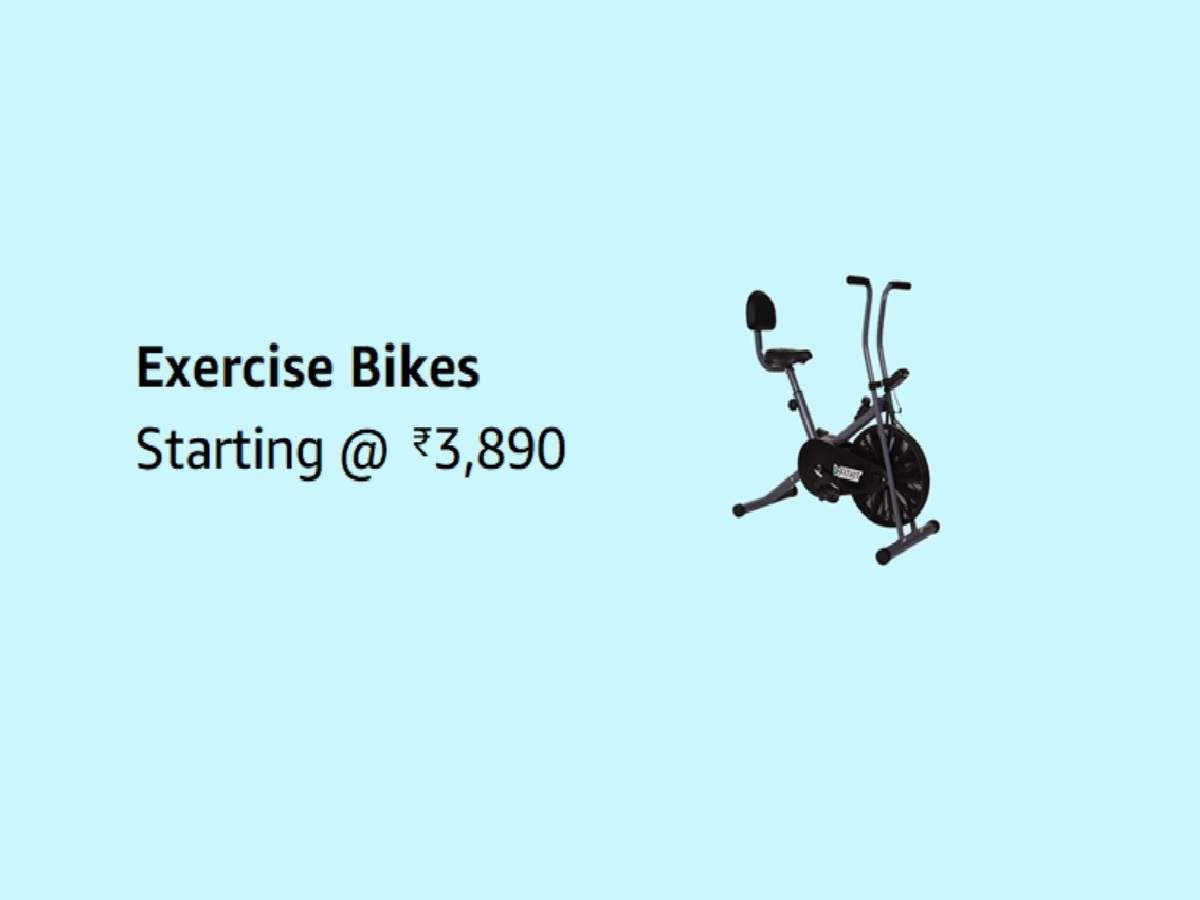Exercise cycles starting at just Rs 3,890 with up to 70% discount