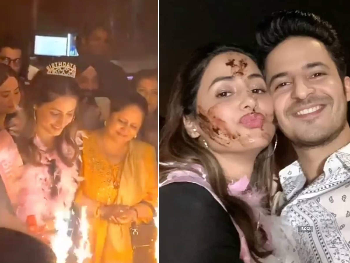 Inside pictures from Hina Khan's lavish birthday bash