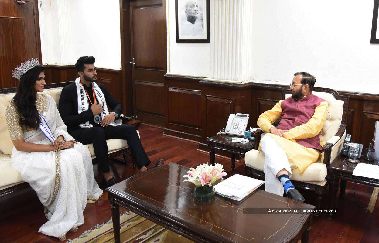 Shefali Sood and Varun Verma meet I&B Minister