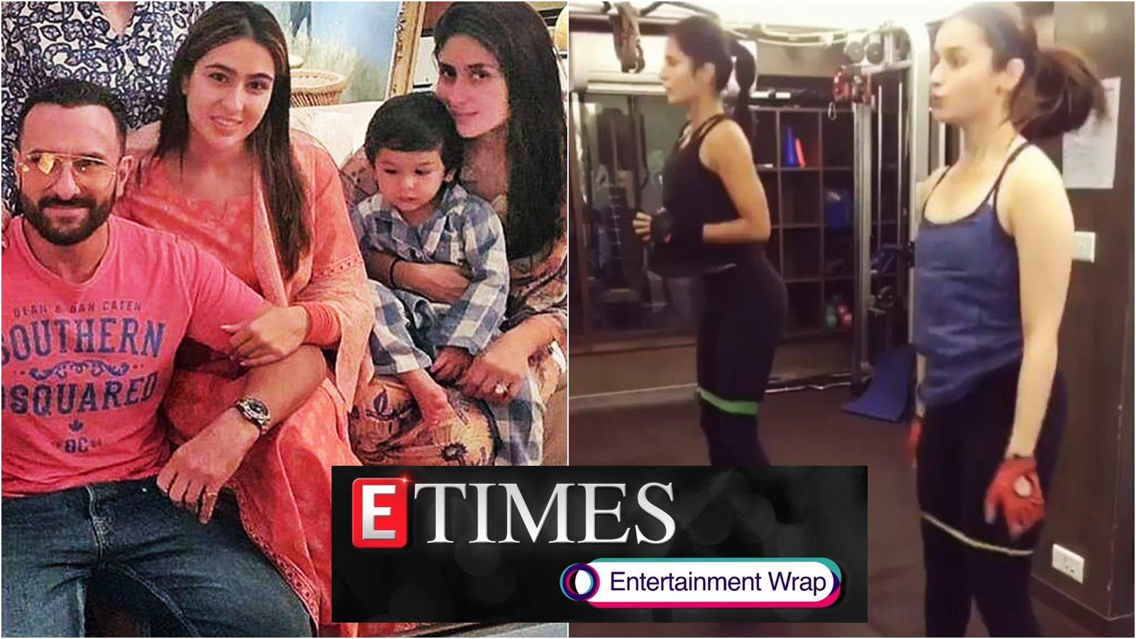 Sara Ali Khan reveals mom Amrita Singh helped her get ready for Saif-Kareena's wedding; Katrina Kaif is best gym buddies with Alia Bhatt, and more...