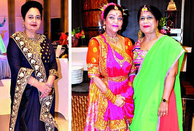 (L) Binu Gandhi (R) Chandni Singh and Daljeet Chawla (BCCL/ AS Rathor)