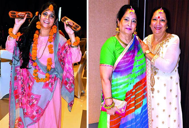 (L) Mona Sakuja (R) Neelam Gandhi and Pramod Bhasin (BCCL/ AS Rathor)